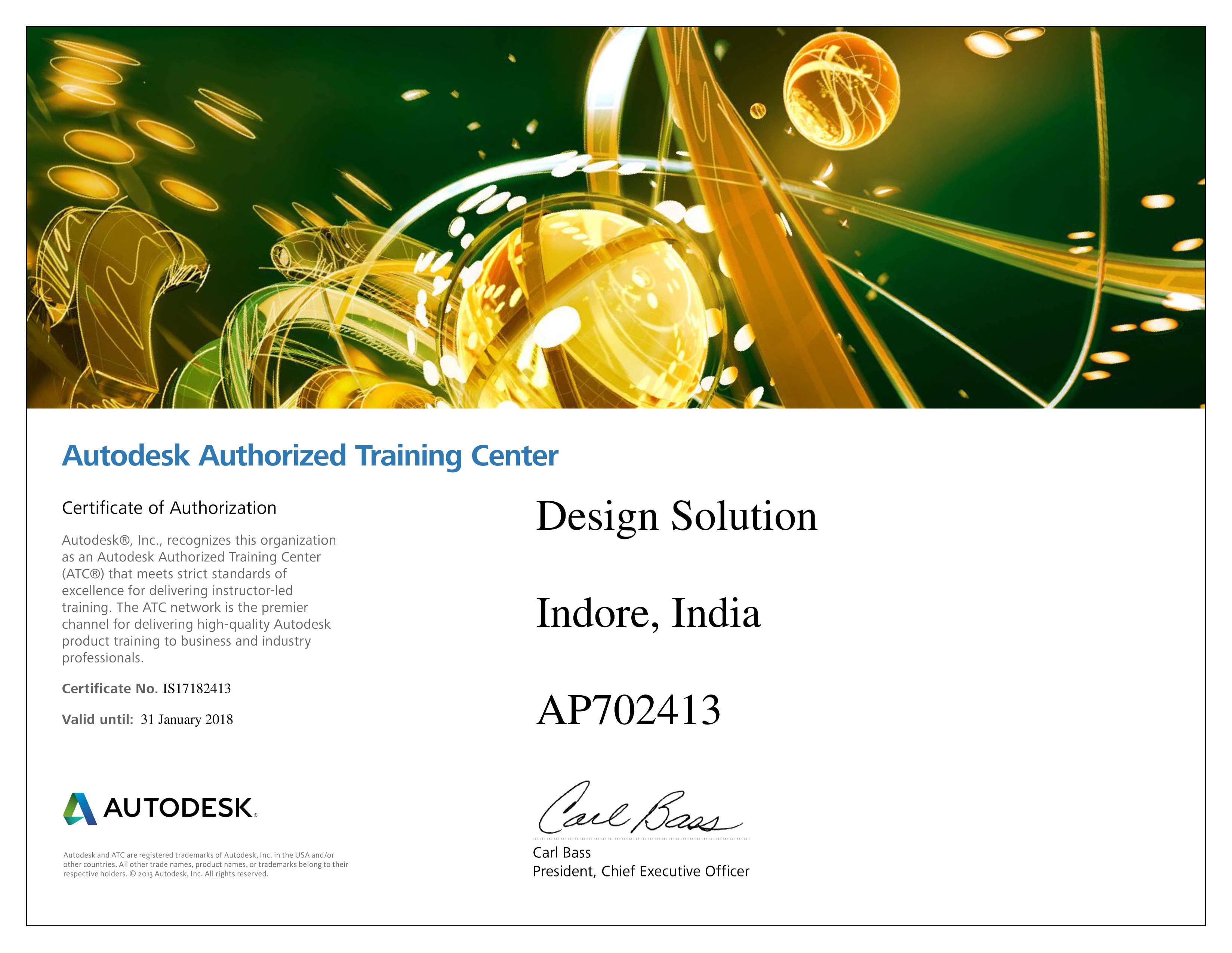 Design-Solution-Authorized-Certiport-Certificate